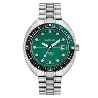 Bulova Oceanographer Men's Stainless Steel Bracelet Watch - Product number 3396827
