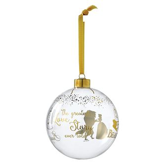 Disney Enchanting Bridal Belle Wedding Bauble Ornament - Product number 3397211