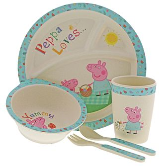 Peppa Pig Bamboo Dinner Set With Mug - Product number 3397297