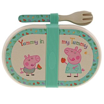Peppa Pig Bamboo Snack Box & Cutlery Set - Product number 3397300