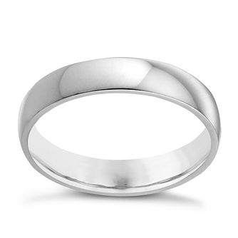 9ct White Gold 4mm Extra Heavy Court Ring - Product number 3398900