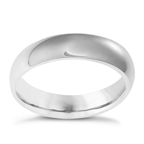 18ct white gold 5mm extra heavyweight court ring - Product number 3399508