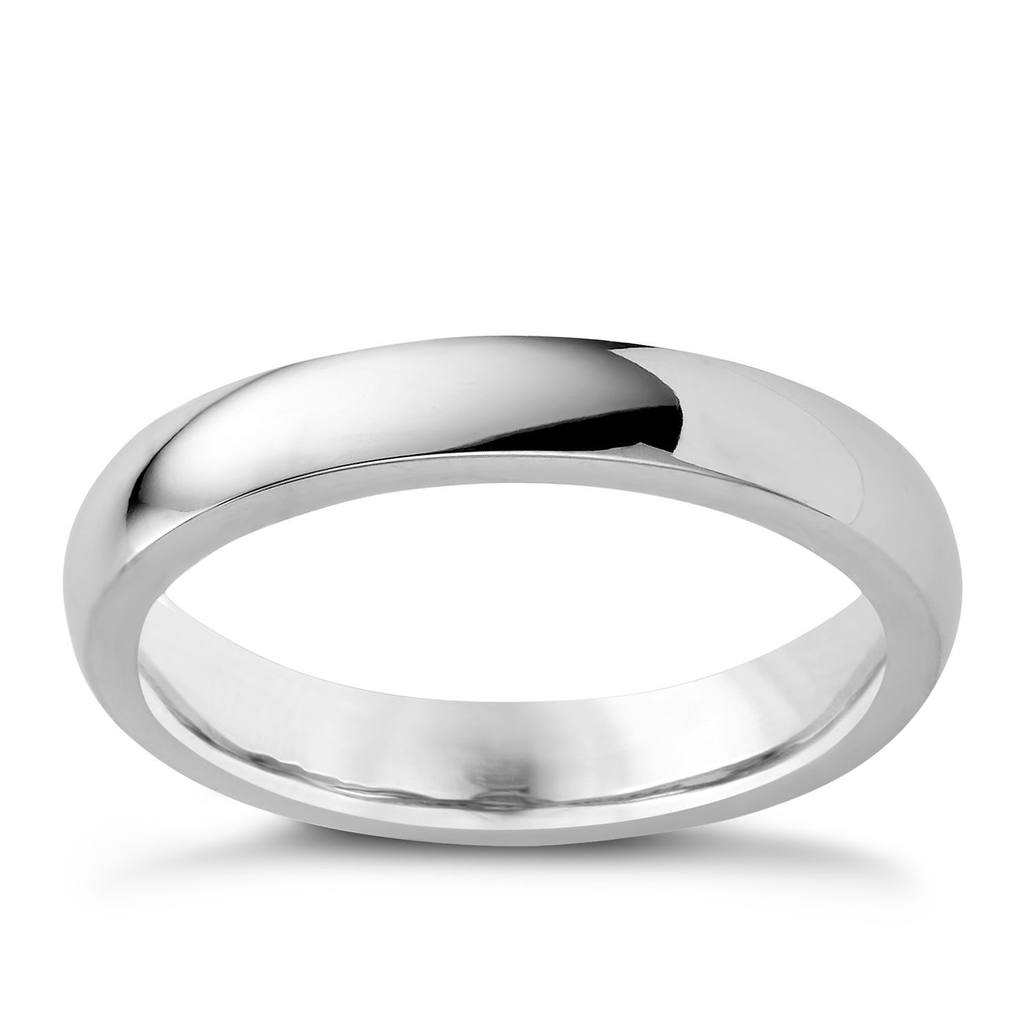 9ct White Gold 3mm Super Heavyweight Court Ring - Product number 3399575