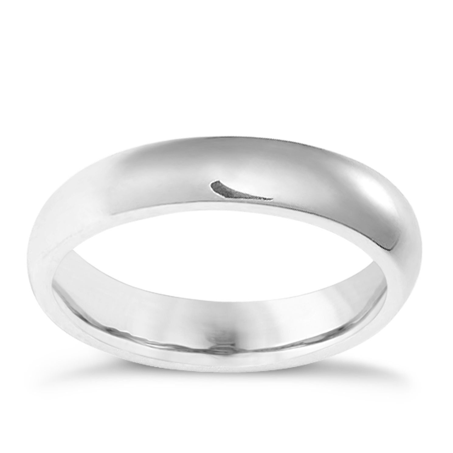 9ct White Gold 4mm Super Heavyweight Court Ring - Product number 3399621