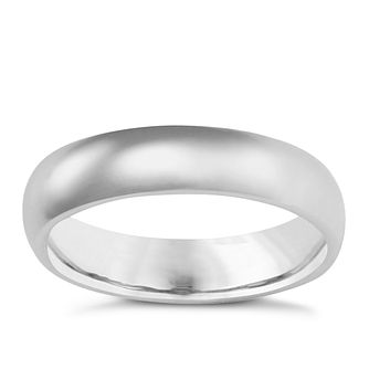 9ct White Gold 5mm Super Heavyweight Court Ring - Product number 3399656