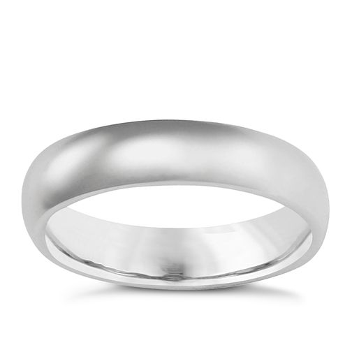 9ct white gold super heavy 5mm court ring - Product number 3399656