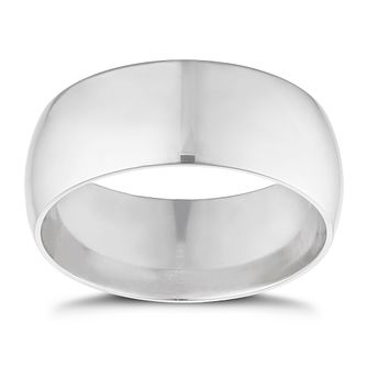 9ct White Gold 8mm Extra Heavyweight Court Ring - Product number 3399672