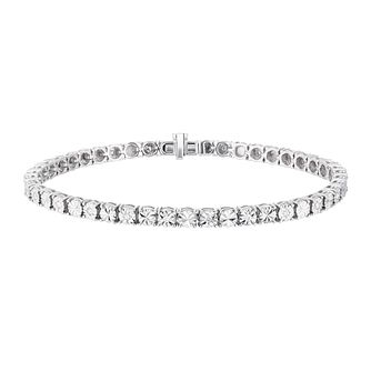 Sterling Silver 1/4ct Illusion Set Diamond Tennis Bracelet - Product number 3400018