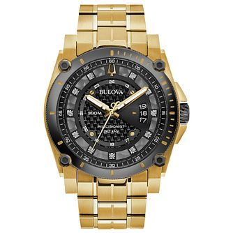 Bulova Precisionist Men's Yellow Gold Tone Bracelet Watch - Product number 3400182