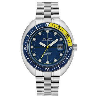 Bulova Oceanographer Men's Stainless Steel Bracelet Watch - Product number 3400190