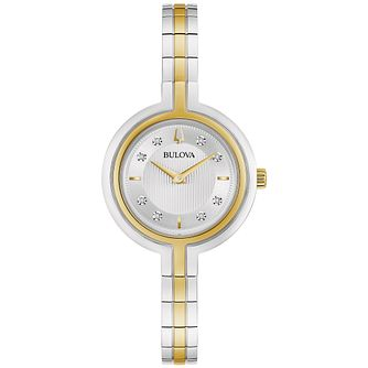 Bulova Rhapsody Diamond Ladies' Two Tone Bracelet Watch - Product number 3400336