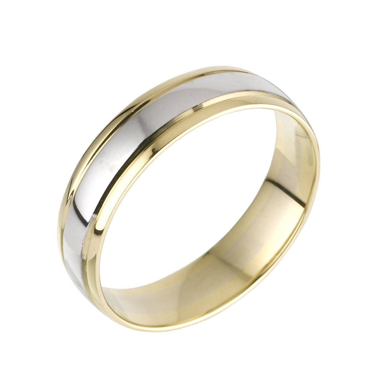 9ct Two Tone Gold Men's Ring - Product number 3401731