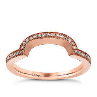 Le Vian 14ct Strawberry Gold & Vanilla Diamond wedding band - Product number 3402835