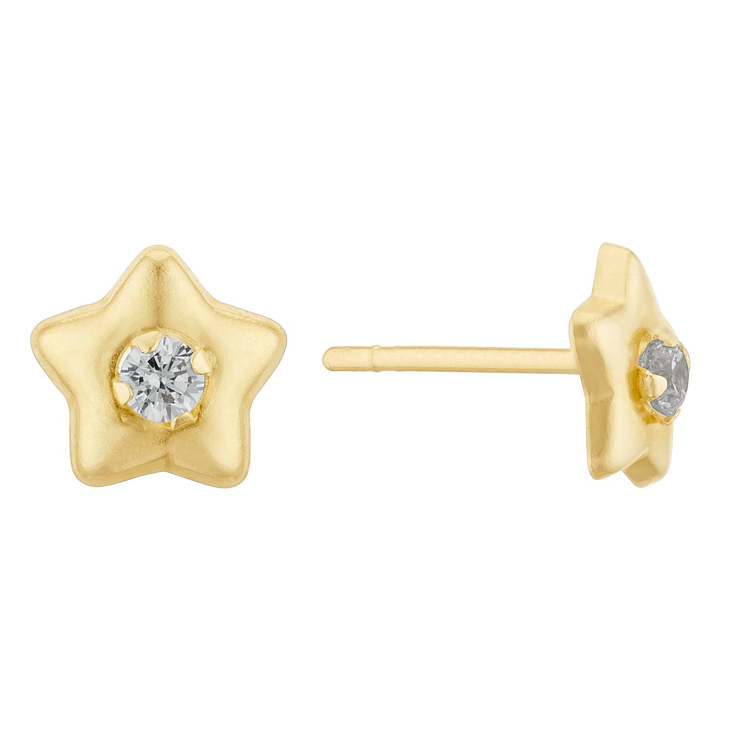 9ct Yellow Gold Cubic Zirconia Star Stud Earrings - Product number 3405540