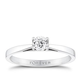 Platinum 1/4ct Forever Diamond Solitaire Ring - Product number 3406032