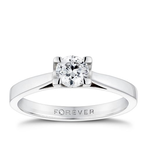 Platinum 1/2ct Forever Diamond Solitaire Ring - Product number 3407071