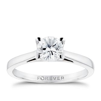 Platinum 3/4ct Forever Diamond Solitaire Ring - Product number 3407462