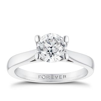 Platinum 1ct Forever Diamond Solitaire Ring - Product number 3407985