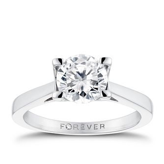 Platinum 1 1/4ct Forever Diamond Solitaire Ring - Product number 3408213
