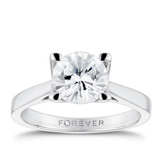 Platinum 1 1/2ct Forever Diamond Solitaire Ring - Product number 3408558
