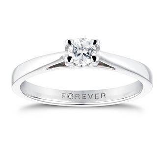 18ct White Gold 1/5ct Forever Diamond Solitaire Ring - Product number 3409430