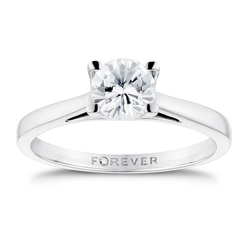 18ct White Gold 3/4ct Forever Diamond Solitaire Ring - Product number 3410072