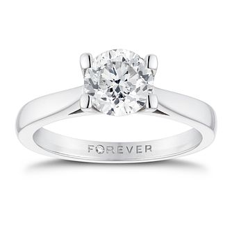18ct White Gold 1ct Forever Diamond Solitaire Ring - Product number 3410234