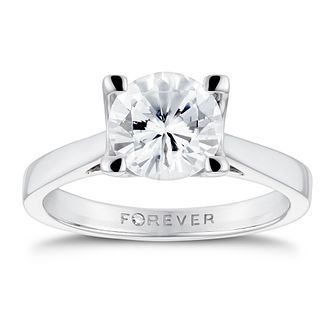 18ct White Gold 1 1/2ct Forever Diamond Ring - Product number 3410625
