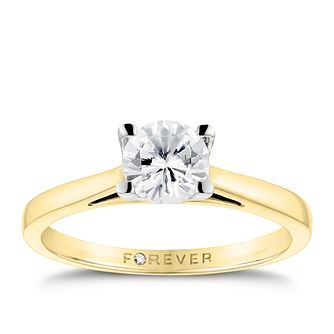 18ct Yellow Gold 3/4ct Forever Diamond Solitaire Ring - Product number 3412636