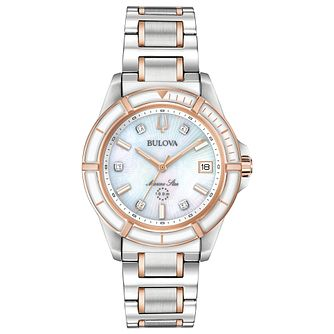 Bulova Marine Star Ladies' Two Tone Bracelet Watch - Product number 3413276