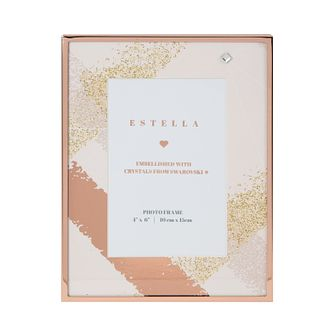 "Estella Rose Gold Tone Crystal 4"" x 6"" Photo Frame - Product number 3413683"