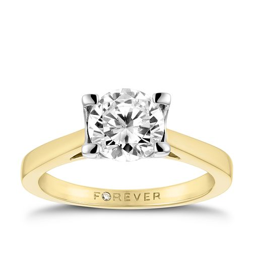 18ct Yellow Gold 1 1/4ct Forever Diamond Solitaire Ring - Product number 3414027