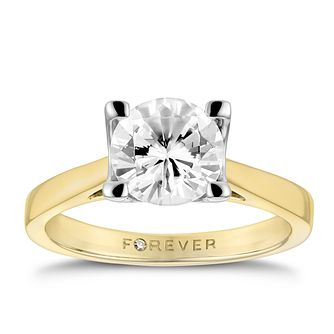 18ct Yellow Gold 1 1/2ct Forever Diamond Ring - Product number 3414221