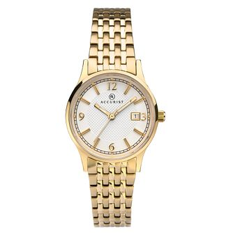 Accurist Signature Ladies' Gold Tone Bracelet Watch - Product number 3418766