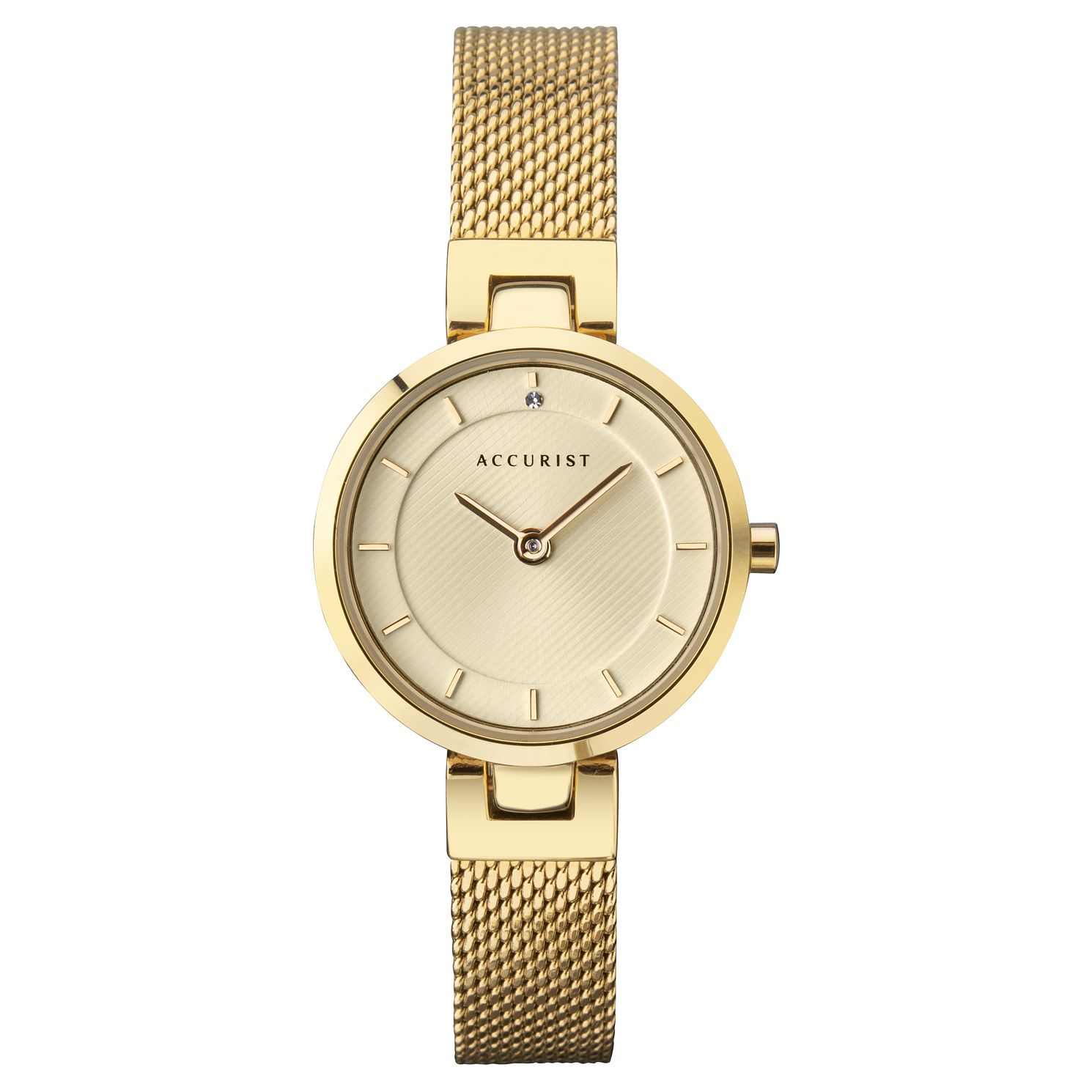 Accurist Ladies' Gold Tone Mesh Bracelet Watch - Product number 3418774