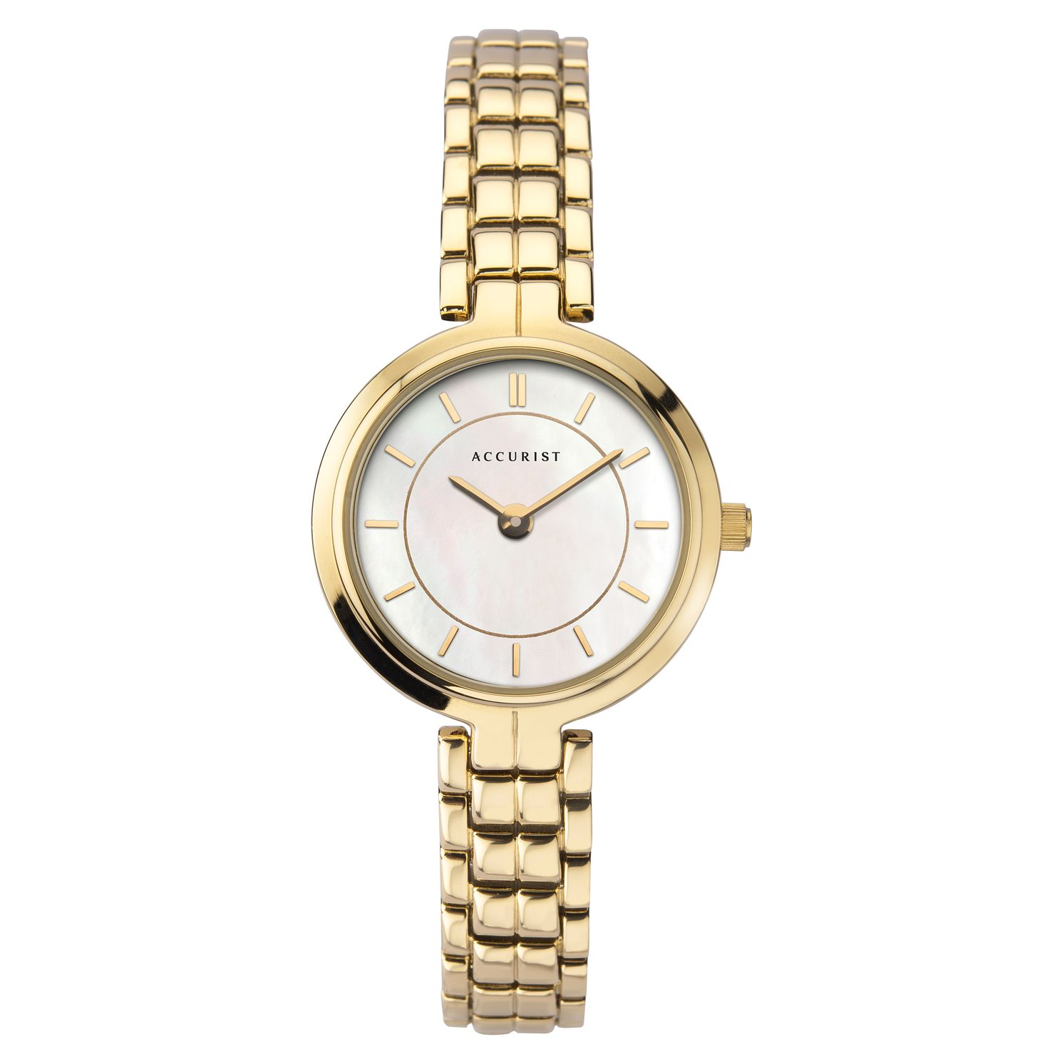 Accurist Ladies' Mother Of Pearl Gold Tone Bracelet Watch - Product number 3418847