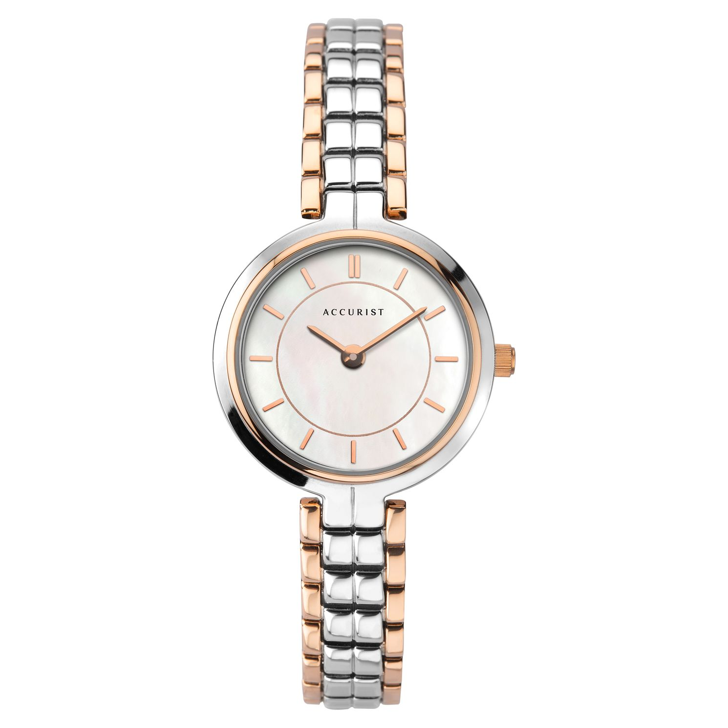 Accurist Ladies' Mother Of Pearl Two Tone Bracelet Watch - Product number 3418855