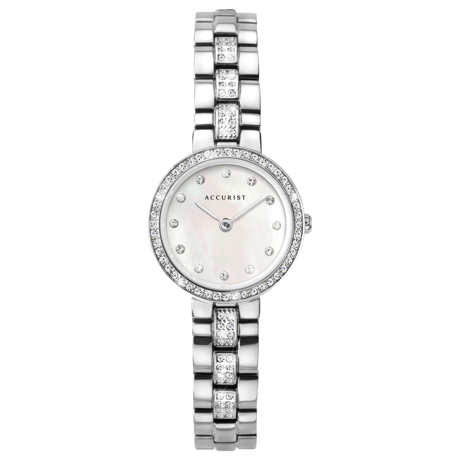 Accurist Ladies' Crystal Silver Tone Bracelet Watch - Product number 3418863