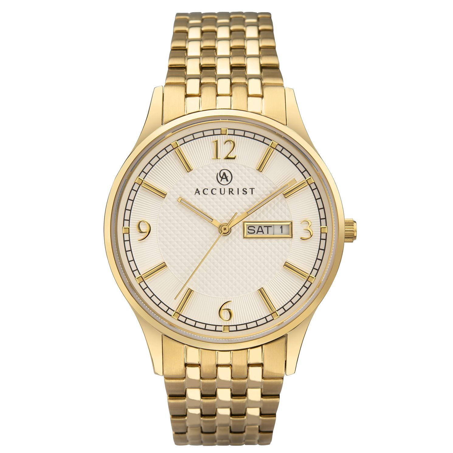 Accurist Signature Men's Gold Tone Bracelet Watch - Product number 3418901