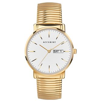 Accurist Men's Gold Tone Expander Bracelet Watch - Product number 3418960
