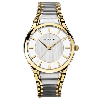 Accurist Men's Two Tone Bracelet Watch - Product number 3418987