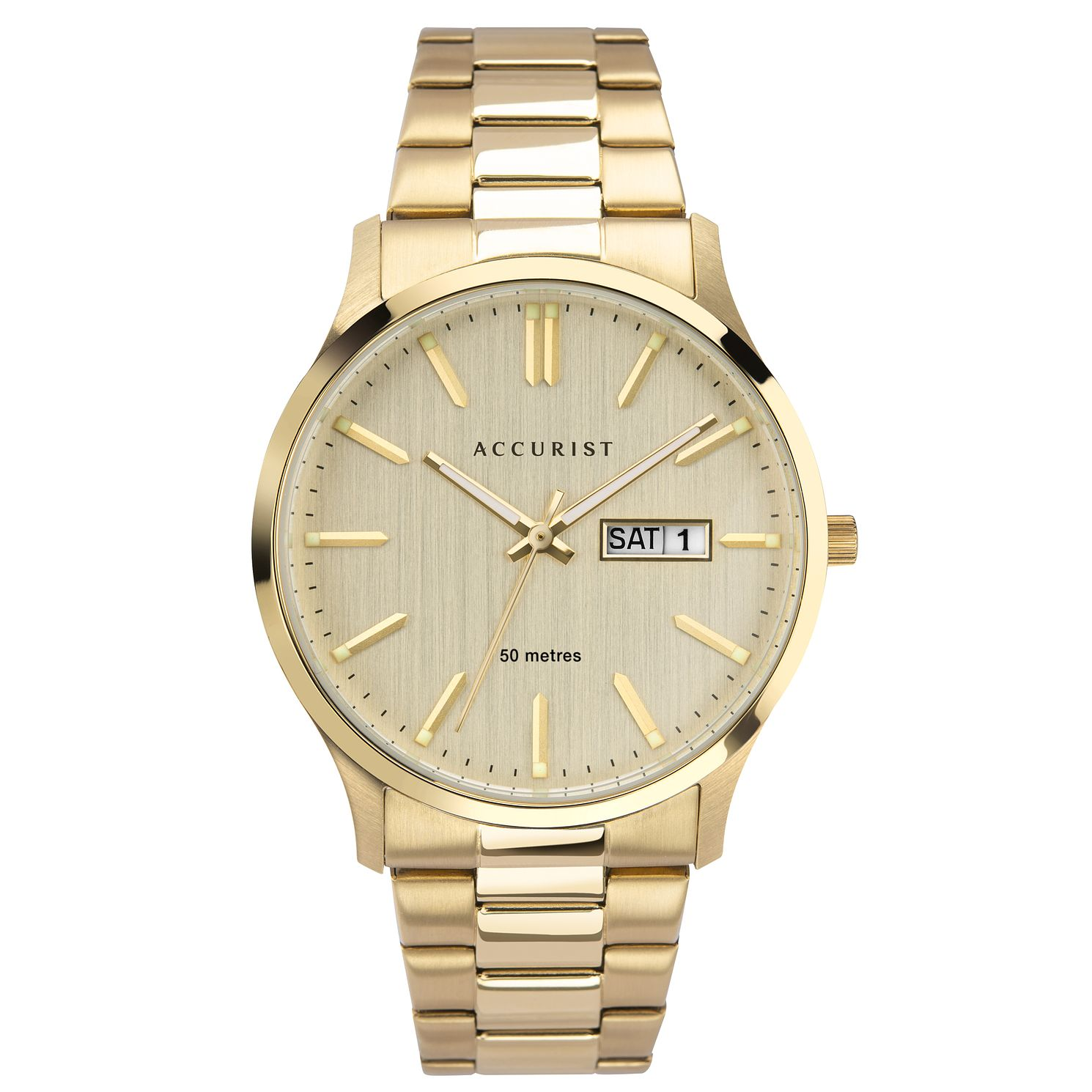 Accurist Men's Gold Tone Bracelet Watch - Product number 3418995