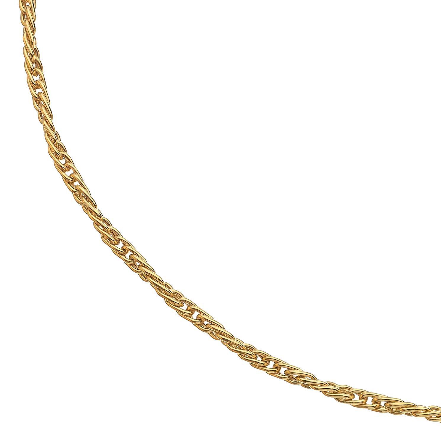 9ct Yellow Gold Twist Chain Necklace - Product number 3419053