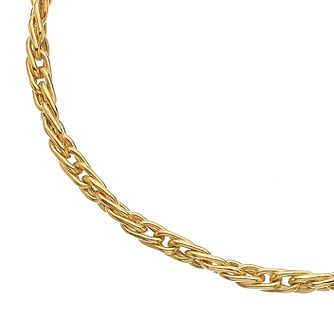 9ct Yellow Gold Twist Chain Bracelet - Product number 3419096