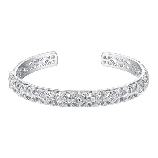 Neil Lane Designs Sterling Silver 0.31ct Diamond Bangle - Product number 3419851