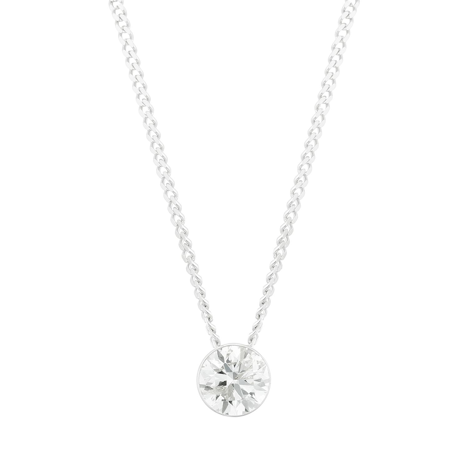 9ct White Gold 1/5ct Diamond Slider Necklace - Product number 3423514