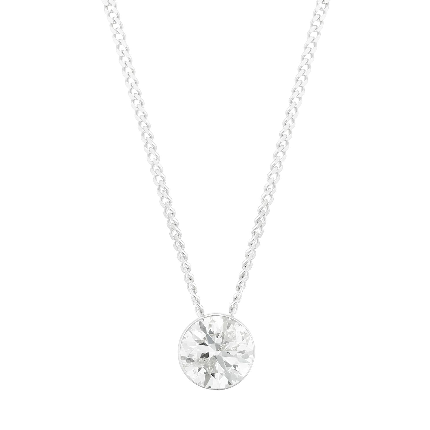 9ct White Gold 3/10ct Diamond Slider Necklace - Product number 3423522
