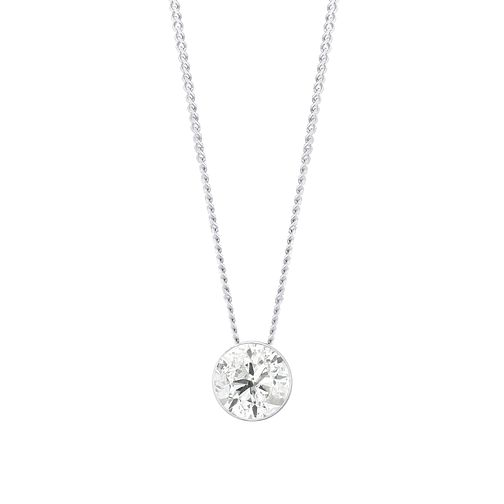 18ct White Gold 1/2ct Diamond Slider Necklace - Product number 3423638
