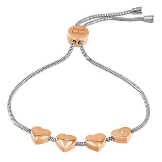 Tommy Hilfiger Ladies' Two Tone Heart Bracelet - Product number 3424073