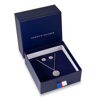 Tommy Hilfiger Sparkle Earring & Pendant Jewellery Gift Set - Product number 3424103
